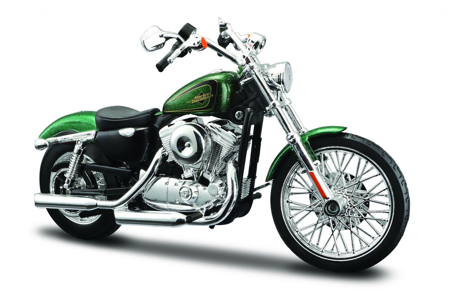 Maisto Harley Davidson 2013 XL 1200V Seventy-Two 1:12 zelená