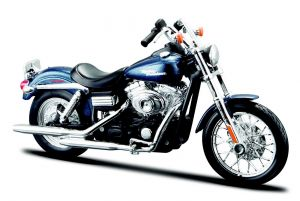 Maisto Harley Davidson Dyna Street Bob 2006 1:18 blue