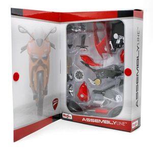 Maisto motorka 1:12 Kit - Ducati 1199 Panigale  červená