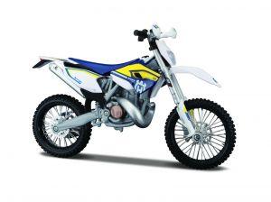Maisto motorka 1:12 Kit - Husqvarna FE 501 modro-žlutá