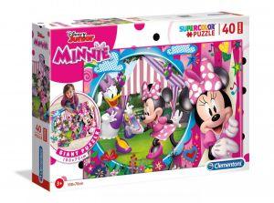 Podlahové puzzle Clementoni 40  dílků MEGA  - Minnie Mouse  25462