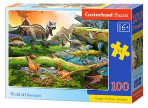 Puzzle Castorland 100 dílků premium  - Dinosauří svět   111084