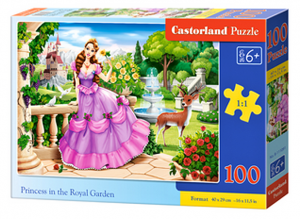 Puzzle Castorland 100 dílků premium  - Princezna v královské zahradě   111091