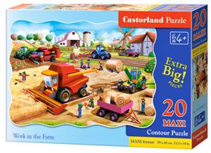 Puzzle Castorland 20 dílků podlahové - MAXI - Zemědělské stroje na farmě   02436