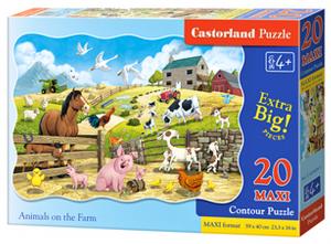 Puzzle Castorland 20 dílků podlahové - MAXI - Zvířata na farmě   02429
