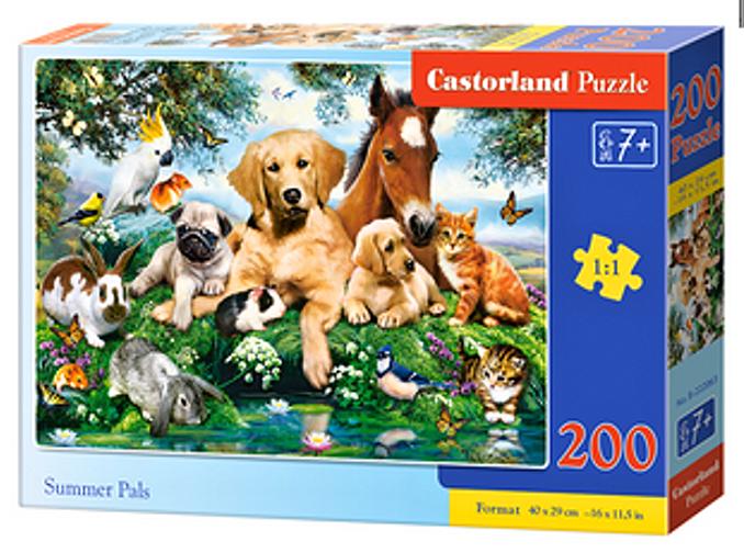 Puzzle Castorland 200 dílků premium - Letní kamarádi 222063
