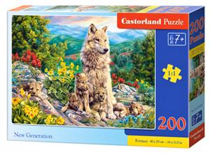 Puzzle Castorland 200 dílků premium  - Nová generace ( vlci )  222087