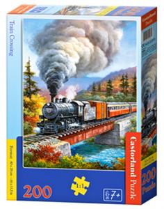 Puzzle Castorland 200 dílků premium  - Vlak na mostě 222070