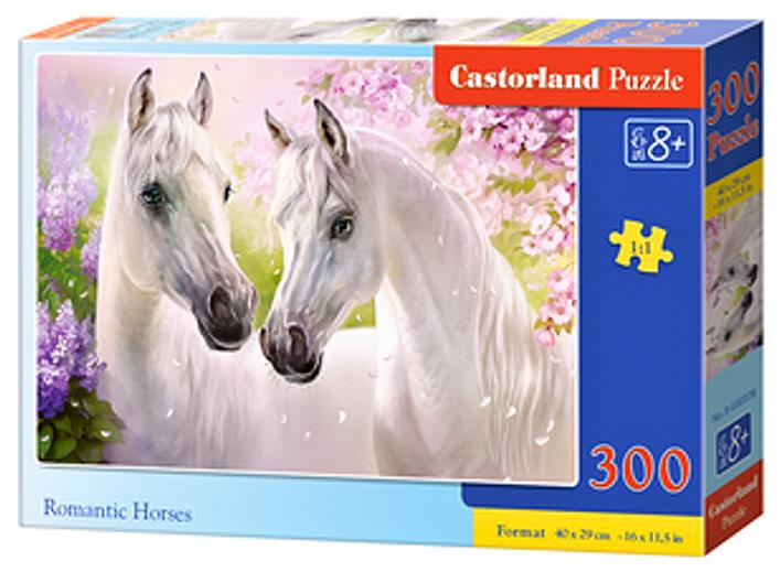 Puzzle Castorland 300 dílků - Bílí koně 030378