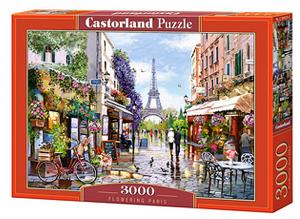 Puzzle Castorland 3000 dílků  -  Kvetoucí Paříž  300525