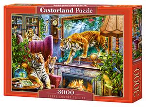 Puzzle Castorland 3000 dílků  -  Tygři v ložnici   300556