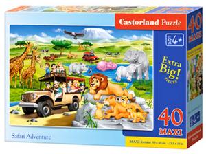 Puzzle Castorland 40 dílků MAXI - Safari dobrodružství   040322