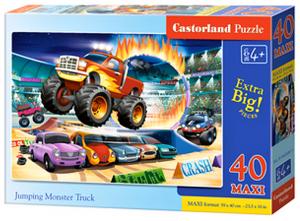 Puzzle Castorland 40 dílků MAXI - Skákající Monster Truck  040308