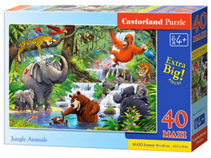 Puzzle Castorland 40 dílků MAXI - Zvířata z džungle   040315