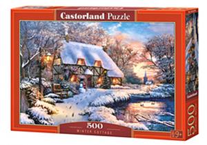 Puzzle Castorland 500 dílků - Chata v zimě 53278