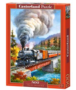 Puzzle Castorland 500 dílků -  Parní vlak na mostě 53216