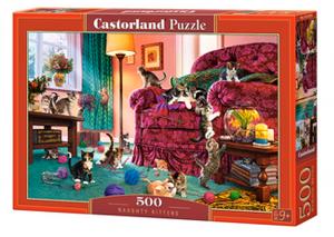 Puzzle Castorland 500 dílků - Zlobivé kočky  53254