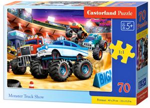 Puzzle Castorland 70 dílků premium  - Monster Truck Show    070077