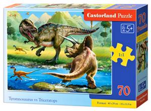 Puzzle Castorland 70 dílků premium  - Tyrannosaurur vs Triceratops   070084