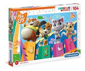 Puzzle Clementoni  - 104 dílků  - 44 koček   27271