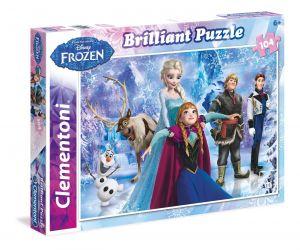Puzzle Clementoni - 104 dílků Briliant - Frozen - Ledové království 20127