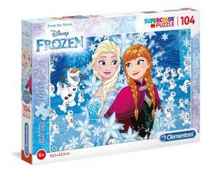 Puzzle Clementoni  - 104 dílků  brokát -  Frozen - Ledové království 20153