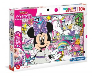 Puzzle Clementoni 104 dílků  jewels  -  Minnie Mouse 20154