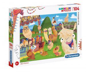 Puzzle Clementoni  - 104 dílků  - Lama  27279