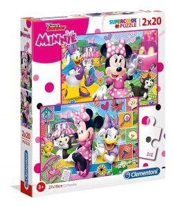Puzzle Clementoni  2x20 dílků  - Minnie Mouse   2v1   24750