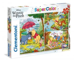 Puzzle Clementoni  - 3 x 48 dílků  - Medvídek Pú    25232