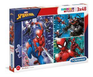 Puzzle Clementoni  - 3 x 48 dílků  - Spiderman    25238
