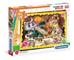 Puzzle Clementoni  60 dílků  44 koček  26052