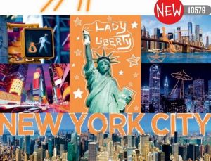 Puzzle Trefl  1000 dílků  - Neon Color Line - Neonové město New York   10579