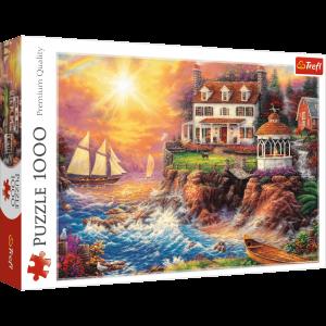 Puzzle Trefl  1000 dílků  -  poklidný přístav 10582