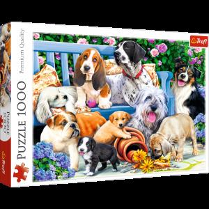 Puzzle Trefl  1000 dílků  - psi v parku   10556
