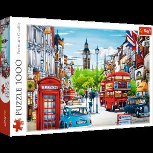 Puzzle Trefl  1000 dílků  -  ulička v Londýně 10557