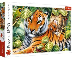 Puzzle Trefl 1500 dílků -  Dva tygři   26159