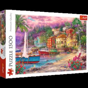 Puzzle Trefl 1500 dílků -  Na zlatém pobřeží   26158