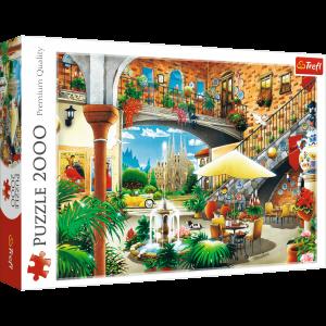 Puzzle Trefl 2000 dílků - Pohled na Barcelonu    27105