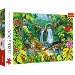 Puzzle Trefl 2000 dílků - Tropický prales   27104