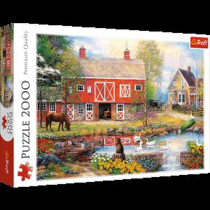 Puzzle Trefl 2000 dílků - život na venkově    27106