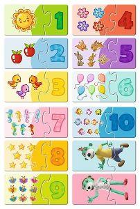 Puzzle Trefl 30 dílků - Treflíci umí počítat 15554
