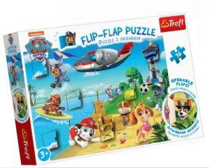 puzzle Trefl 36 dílků  Flip Flap s okénky - Tlapková patrola  14308