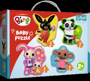 Puzzle Trefl  Baby  3, 4, 5 a 6 dílků  - Bing a kamarádi   36085
