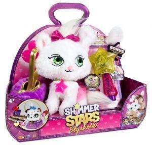 Shimmer Stars - třpytivý plyšák - Kočička  s hůlkou a  s taštičkou