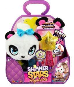 Shimmer Stars - třpytivý plyšák - Panda  s hůlkou