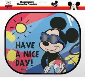 Stínítko do auta ( sluneční clona ) 2 ks - Mickey Mouse 2ks + plakát