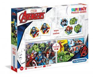 Super Kit  puzzle Clementoni 2x30 dílků + Domino + Memos ( pexeso ) - Avengers  20209