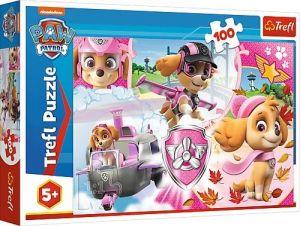 Trefl Puzzle 100 dílků - Paw Patrol - Tlapková patrola - Skye v akci   -  16368