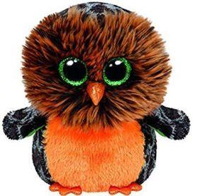 TY Beanie Boos - Midnight - oranžová sova  41125  -  15 cm plyšák